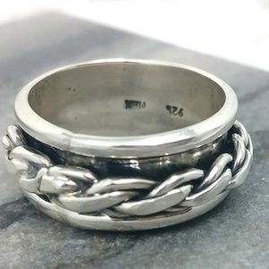 Other - Men's Sterling Silver Spinner Ring